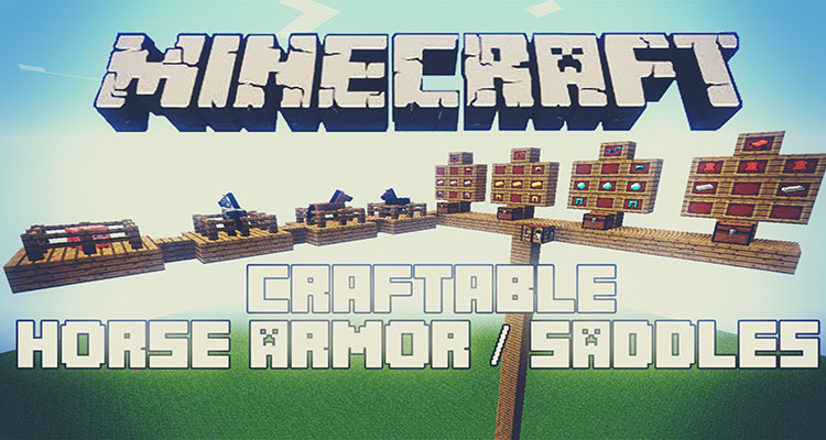Craftable Horse Armour and Saddle Mod 1.15.1/1.14.4