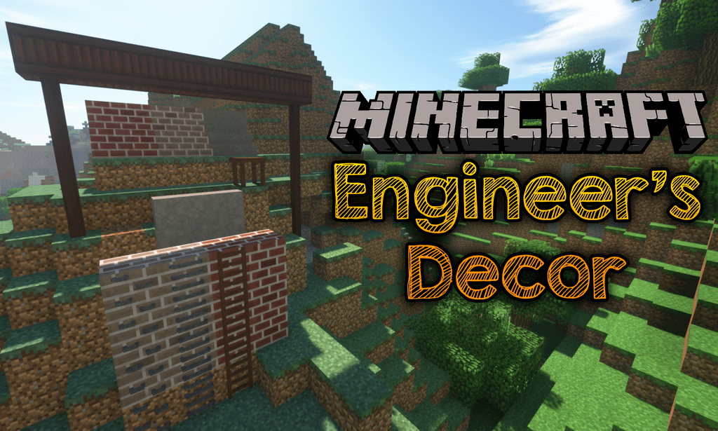 Engineer's Decor Mod 1.15.1/1.14.4 (Cosmetic Blocks for Engineer?s Workshop) For Minecraft