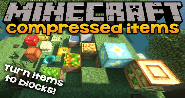 Compressed Items Mod 1.15.1/1.14.4
