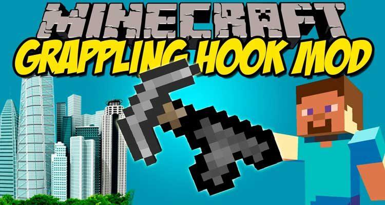 Grappling Hook Mod 1.12.2/1.11.2 For Minecraft