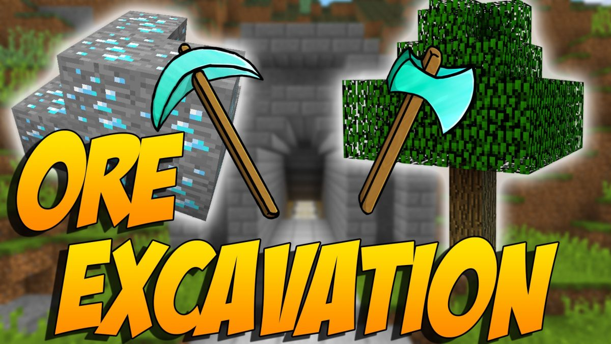 Ore Excavation Mod 1.15.1/1.14.4 (New Shape Mining) For Minecraft
