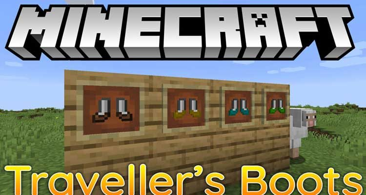 Traveller's Boots Mod 1.15.1/1.14.4 (Adds 4 Types of Boots)
