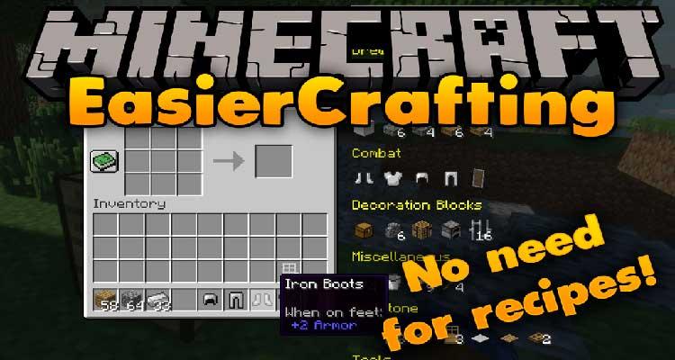 Easier Crafting Mod 1.13.2/1.12.2