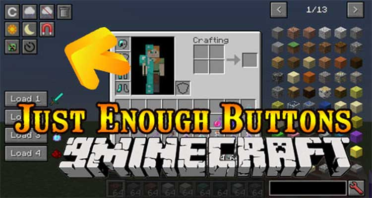 Just Enough Buttons Mod 1.14.4/1.12.2