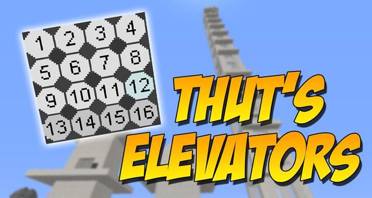 Thutmose's Elevators Mod 1.15.2/1.14.4 (Dynamic Elevators)