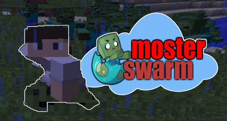 Monster Swarm Mod 1.12.2/1.8.9 (Aggressive AI for Monsters)
