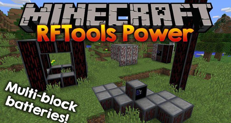 RFTools Power Mod 1.15.2/1.14.4 (Multi-Block Batteries)