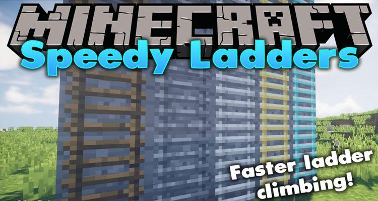 Speedy Ladders Mod 1.15.2/1.14.4 (Adds 4 Tiers of Vanilla+ Style Ladders)