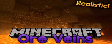 Realistic Ore Veins Mod 1.13.2/1.12.2