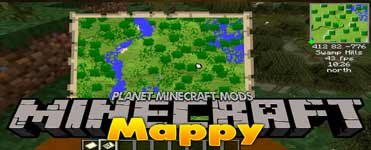 Mappy Mod 1.14.4 (A Mini Map Mod for Fabric)