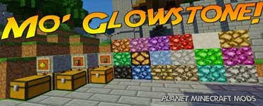 Mo' Glowstone Mod 1.14.4/1.12.2 (Colored Glowstone)