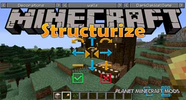 Structurize Mod 1.14.4/1.12.2 (Easy Way To Build Your Own City)