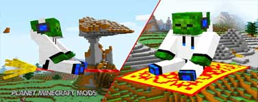 The Flying Things Mod 1.14.4/1.12.2 (Enchanted Brooms and Magic Carpets)