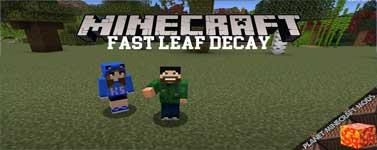 Fast Leaf Decay Mod 1.16.3/1.12.2/1.7.10