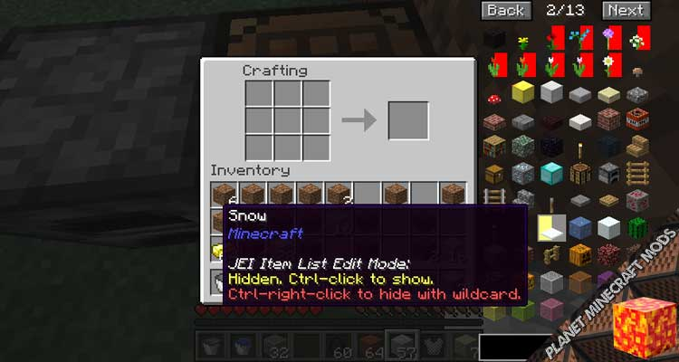 Just Enough Items (JEI) Mod 1.16.3/1.15.2/1.12.2