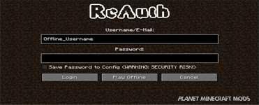 ReAuth Mod 1.16.4/1.12.2/1.10.2/1.7.10
