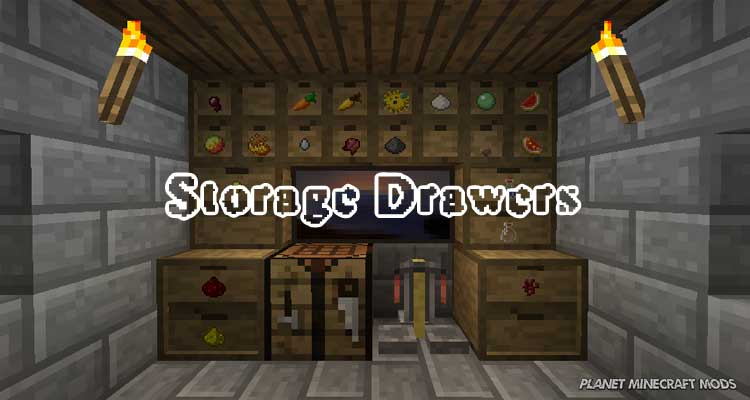 Storage Drawers Mod 1.16.4/1.12.2/1.7.10