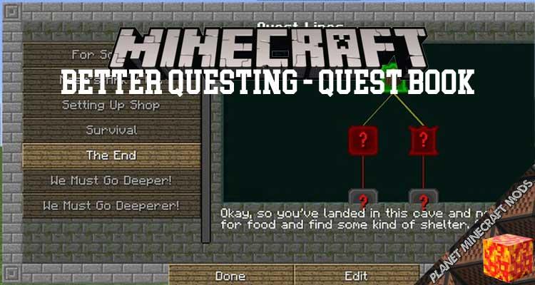 Better Questing - Quest Book Mod 1.12.2/1.10.2/1.7.10