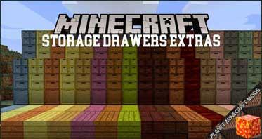 Storage Drawers Extras Mod 1.12.2/1.11.2/1.10.2