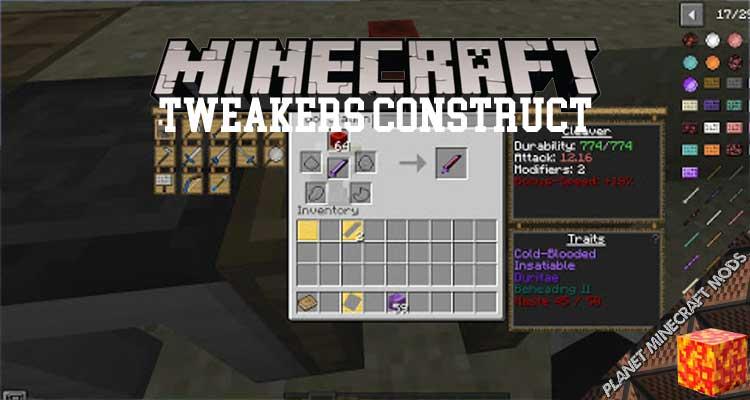 Tweakers Construct Mod 1.12.2/1.10.2