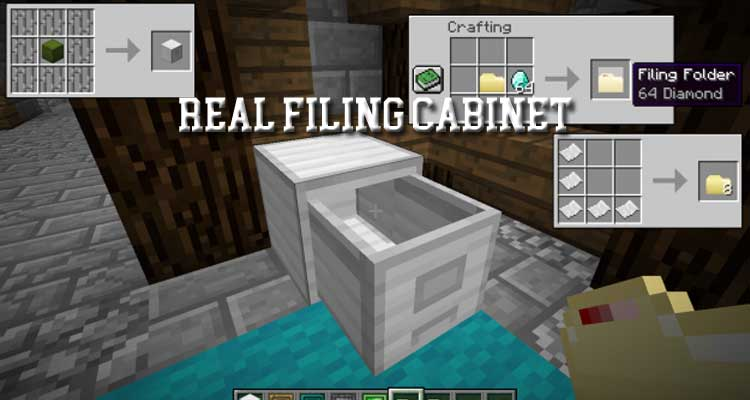 Real Filing Cabinet Mod 1.14.4/1.12.2/1.10.2