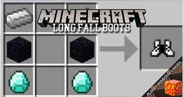 Long Fall Boots Mod 1.16.5/1.12.2/1.10.2