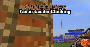 Faster Ladder Climbing Mod 1.16.4/1.12.2/1.10.2