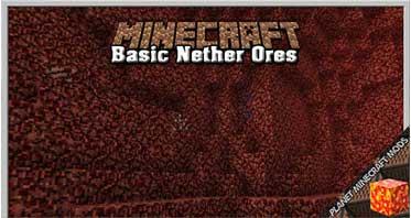 Basic Nether Ores Mod 1.17.1/1.16.5/1.12.2
