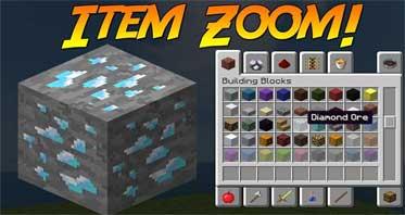 ItemZoom Mod 1.16.5/1.12.2/1.10.2